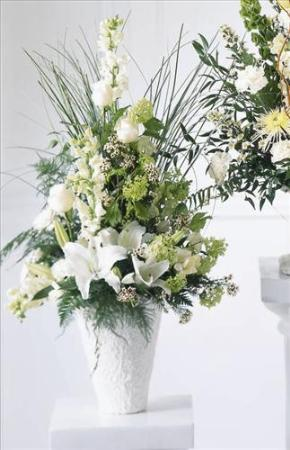 Weeping Lilies Arrangement San Francisco Funeral