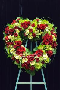 Emerald Love Heart Funeral Flowers, Sympathy Flowers, Funeral Flower Arrangements from San Francisco Funeral Flowers.com Search for chinese funeral, sympathy funeral flower arrangements from our SanFranciscoFuneralFlowers.com website. Our funeral and sympathy arrangements include crosses, casket covers, hearts, wreaths on wood easels, coronas fúnebres, arreglos fúnebres, cruces para velorio, coronas para difunto, arreglos fúnebres, Florerias, Floreria, arreglos florales, corona funebre, coronas