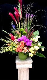 Tropical Medley Arrangement Funeral Flowers, Sympathy Flowers, Funeral Flower Arrangements from San Francisco Funeral Flowers.com Search for chinese funeral, sympathy funeral flower arrangements from our SanFranciscoFuneralFlowers.com website. Our funeral and sympathy arrangements include crosses, casket covers, hearts, wreaths on wood easels, coronas fúnebres, arreglos fúnebres, cruces para velorio, coronas para difunto, arreglos fúnebres, Florerias, Floreria, arreglos florales, corona funebre, coronas
