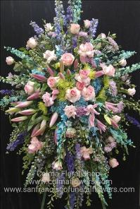 Mermaid Dreams Spray Funeral Flowers, Sympathy Flowers, Funeral Flower Arrangements from San Francisco Funeral Flowers.com Search for chinese funeral, sympathy funeral flower arrangements from our SanFranciscoFuneralFlowers.com website. Our funeral and sympathy arrangements include crosses, casket covers, hearts, wreaths on wood easels, coronas fúnebres, arreglos fúnebres, cruces para velorio, coronas para difunto, arreglos fúnebres, Florerias, Floreria, arreglos florales, corona funebre, coronas