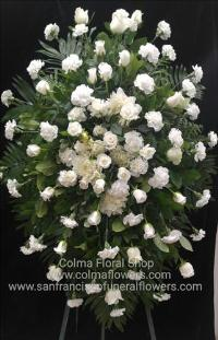 Peaceful stars standing spray Funeral Flowers, Sympathy Flowers, Funeral Flower Arrangements from San Francisco Funeral Flowers.com Search for chinese funeral, sympathy funeral flower arrangements from our SanFranciscoFuneralFlowers.com website. Our funeral and sympathy arrangements include crosses, casket covers, hearts, wreaths on wood easels, coronas fúnebres, arreglos fúnebres, cruces para velorio, coronas para difunto, arreglos fúnebres, Florerias, Floreria, arreglos florales, corona funebre, coronas