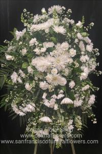 Morning Star Standing spray Funeral Flowers, Sympathy Flowers, Funeral Flower Arrangements from San Francisco Funeral Flowers.com Search for chinese funeral, sympathy funeral flower arrangements from our SanFranciscoFuneralFlowers.com website. Our funeral and sympathy arrangements include crosses, casket covers, hearts, wreaths on wood easels, coronas fúnebres, arreglos fúnebres, cruces para velorio, coronas para difunto, arreglos fúnebres, Florerias, Floreria, arreglos florales, corona funebre, coronas