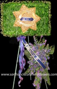 Sheriff Star Badge Floral Tribute Funeral Flowers, Sympathy Flowers, Funeral Flower Arrangements from San Francisco Funeral Flowers.com Search for chinese funeral, sympathy funeral flower arrangements from our SanFranciscoFuneralFlowers.com website. Our funeral and sympathy arrangements include crosses, casket covers, hearts, wreaths on wood easels, coronas fúnebres, arreglos fúnebres, cruces para velorio, coronas para difunto, arreglos fúnebres, Florerias, Floreria, arreglos florales, corona funebre, coronas