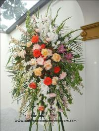 With love and remembrance standing spray Funeral Flowers, Sympathy Flowers, Funeral Flower Arrangements from San Francisco Funeral Flowers.com Search for chinese funeral, sympathy funeral flower arrangements from our SanFranciscoFuneralFlowers.com website. Our funeral and sympathy arrangements include crosses, casket covers, hearts, wreaths on wood easels, coronas fúnebres, arreglos fúnebres, cruces para velorio, coronas para difunto, arreglos fúnebres, Florerias, Floreria, arreglos florales, corona funebre, coronas
