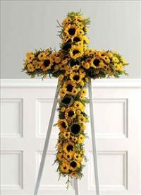 SunFlower Cross (CF106-21) Funeral Flowers, Sympathy Flowers, Funeral Flower Arrangements from San Francisco Funeral Flowers.com Search for chinese funeral, sympathy funeral flower arrangements from our SanFranciscoFuneralFlowers.com website. Our funeral and sympathy arrangements include crosses, casket covers, hearts, wreaths on wood easels, coronas fúnebres, arreglos fúnebres, cruces para velorio, coronas para difunto, arreglos fúnebres, Florerias, Floreria, arreglos florales, corona funebre, coronas