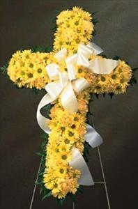 Yellow Floral Cross (CF77-21) Funeral Flowers, Sympathy Flowers, Funeral Flower Arrangements from San Francisco Funeral Flowers.com Search for chinese funeral, sympathy funeral flower arrangements from our SanFranciscoFuneralFlowers.com website. Our funeral and sympathy arrangements include crosses, casket covers, hearts, wreaths on wood easels, coronas fúnebres, arreglos fúnebres, cruces para velorio, coronas para difunto, arreglos fúnebres, Florerias, Floreria, arreglos florales, corona funebre, coronas