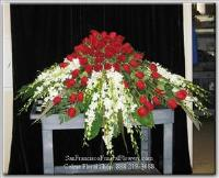 Casket Spray with South American Roses and White Dendroniums, Funeral Flowers, Sympathy Flowers, Funeral Flower Arrangements from San Francisco Funeral Flowers.com Search for chinese funeral, sympathy funeral flower arrangements from our SanFranciscoFuneralFlowers.com website. Our funeral and sympathy arrangements include crosses, casket covers, hearts, wreaths on wood easels, coronas fúnebres, arreglos fúnebres, cruces para velorio, coronas para difunto, arreglos fúnebres, Florerias, Floreria, arreglos florales, corona funebre, coronas