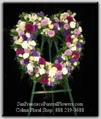 Precious Love Heart Funeral Flowers, Sympathy Flowers, Funeral Flower Arrangements from San Francisco Funeral Flowers.com Search for chinese funeral, sympathy funeral flower arrangements from our SanFranciscoFuneralFlowers.com website. Our funeral and sympathy arrangements include crosses, casket covers, hearts, wreaths on wood easels, coronas fúnebres, arreglos fúnebres, cruces para velorio, coronas para difunto, arreglos fúnebres, Florerias, Floreria, arreglos florales, corona funebre, coronas