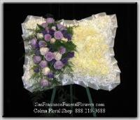 Floral Pillow Spray,White mums, Funeral Flowers, Sympathy Flowers, Funeral Flower Arrangements from San Francisco Funeral Flowers.com Search for chinese funeral, sympathy funeral flower arrangements from our SanFranciscoFuneralFlowers.com website. Our funeral and sympathy arrangements include crosses, casket covers, hearts, wreaths on wood easels, coronas fúnebres, arreglos fúnebres, cruces para velorio, coronas para difunto, arreglos fúnebres, Florerias, Floreria, arreglos florales, corona funebre, coronas