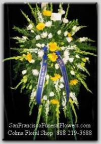 Rest my Friend Spray Funeral Flowers, Sympathy Flowers, Funeral Flower Arrangements from San Francisco Funeral Flowers.com Search for chinese funeral, sympathy funeral flower arrangements from our SanFranciscoFuneralFlowers.com website. Our funeral and sympathy arrangements include crosses, casket covers, hearts, wreaths on wood easels, coronas fúnebres, arreglos fúnebres, cruces para velorio, coronas para difunto, arreglos fúnebres, Florerias, Floreria, arreglos florales, corona funebre, coronas