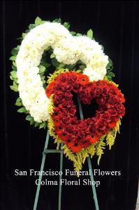True Love Heart Funeral Flowers, Sympathy Flowers, Funeral Flower Arrangements from San Francisco Funeral Flowers.com Search for chinese funeral, sympathy funeral flower arrangements from our SanFranciscoFuneralFlowers.com website. Our funeral and sympathy arrangements include crosses, casket covers, hearts, wreaths on wood easels, coronas fúnebres, arreglos fúnebres, cruces para velorio, coronas para difunto, arreglos fúnebres, Florerias, Floreria, arreglos florales, corona funebre, coronas