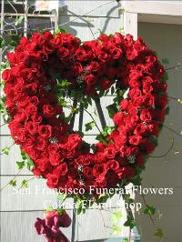 Red Rose Heart Funeral Flowers, Sympathy Flowers, Funeral Flower Arrangements from San Francisco Funeral Flowers.com Search for chinese funeral, sympathy funeral flower arrangements from our SanFranciscoFuneralFlowers.com website. Our funeral and sympathy arrangements include crosses, casket covers, hearts, wreaths on wood easels, coronas fúnebres, arreglos fúnebres, cruces para velorio, coronas para difunto, arreglos fúnebres, Florerias, Floreria, arreglos florales, corona funebre, coronas