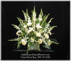 Evening Stars Basket Funeral Flowers, Sympathy Flowers, Funeral Flower Arrangements from San Francisco Funeral Flowers.com Search for chinese funeral, sympathy funeral flower arrangements from our SanFranciscoFuneralFlowers.com website. Our funeral and sympathy arrangements include crosses, casket covers, hearts, wreaths on wood easels, coronas fúnebres, arreglos fúnebres, cruces para velorio, coronas para difunto, arreglos fúnebres, Florerias, Floreria, arreglos florales, corona funebre, coronas