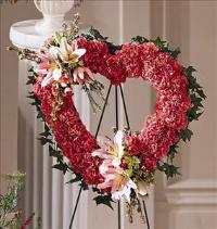 Our Love Eternal Heart Funeral Flowers, Sympathy Flowers, Funeral Flower Arrangements from San Francisco Funeral Flowers.com Search for chinese funeral, sympathy funeral flower arrangements from our SanFranciscoFuneralFlowers.com website. Our funeral and sympathy arrangements include crosses, casket covers, hearts, wreaths on wood easels, coronas fúnebres, arreglos fúnebres, cruces para velorio, coronas para difunto, arreglos fúnebres, Florerias, Floreria, arreglos florales, corona funebre, coronas