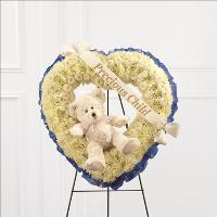 Precious Child Standing Heart Funeral Flowers, Sympathy Flowers, Funeral Flower Arrangements from San Francisco Funeral Flowers.com Search for chinese funeral, sympathy funeral flower arrangements from our SanFranciscoFuneralFlowers.com website. Our funeral and sympathy arrangements include crosses, casket covers, hearts, wreaths on wood easels, coronas fúnebres, arreglos fúnebres, cruces para velorio, coronas para difunto, arreglos fúnebres, Florerias, Floreria, arreglos florales, corona funebre, coronas
