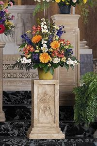 Fan Shape in Bright Colors Funeral Flowers, Sympathy Flowers, Funeral Flower Arrangements from San Francisco Funeral Flowers.com Search for chinese funeral, sympathy funeral flower arrangements from our SanFranciscoFuneralFlowers.com website. Our funeral and sympathy arrangements include crosses, casket covers, hearts, wreaths on wood easels, coronas fúnebres, arreglos fúnebres, cruces para velorio, coronas para difunto, arreglos fúnebres, Florerias, Floreria, arreglos florales, corona funebre, coronas