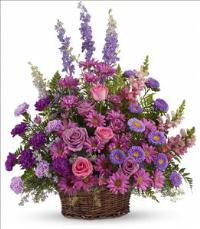 Gracious Lavender Basket Funeral Flowers, Sympathy Flowers, Funeral Flower Arrangements from San Francisco Funeral Flowers.com Search for chinese funeral, sympathy funeral flower arrangements from our SanFranciscoFuneralFlowers.com website. Our funeral and sympathy arrangements include crosses, casket covers, hearts, wreaths on wood easels, coronas fúnebres, arreglos fúnebres, cruces para velorio, coronas para difunto, arreglos fúnebres, Florerias, Floreria, arreglos florales, corona funebre, coronas