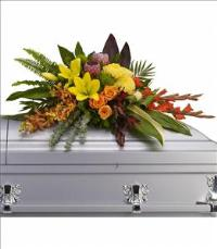 Island Memories Casket Spray Funeral Flowers, Sympathy Flowers, Funeral Flower Arrangements from San Francisco Funeral Flowers.com Search for chinese funeral, sympathy funeral flower arrangements from our SanFranciscoFuneralFlowers.com website. Our funeral and sympathy arrangements include crosses, casket covers, hearts, wreaths on wood easels, coronas fúnebres, arreglos fúnebres, cruces para velorio, coronas para difunto, arreglos fúnebres, Florerias, Floreria, arreglos florales, corona funebre, coronas