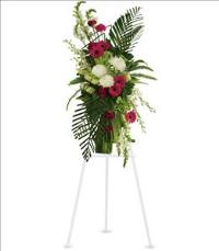Gerberas and Palms Spray Funeral Flowers, Sympathy Flowers, Funeral Flower Arrangements from San Francisco Funeral Flowers.com Search for chinese funeral, sympathy funeral flower arrangements from our SanFranciscoFuneralFlowers.com website. Our funeral and sympathy arrangements include crosses, casket covers, hearts, wreaths on wood easels, coronas fúnebres, arreglos fúnebres, cruces para velorio, coronas para difunto, arreglos fúnebres, Florerias, Floreria, arreglos florales, corona funebre, coronas
