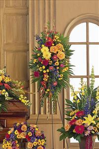 Double-Ended Easel Spray Funeral Flowers, Sympathy Flowers, Funeral Flower Arrangements from San Francisco Funeral Flowers.com Search for chinese funeral, sympathy funeral flower arrangements from our SanFranciscoFuneralFlowers.com website. Our funeral and sympathy arrangements include crosses, casket covers, hearts, wreaths on wood easels, coronas fúnebres, arreglos fúnebres, cruces para velorio, coronas para difunto, arreglos fúnebres, Florerias, Floreria, arreglos florales, corona funebre, coronas