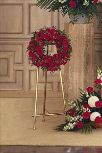 Small Red Wreath Funeral Flowers, Sympathy Flowers, Funeral Flower Arrangements from San Francisco Funeral Flowers.com Search for chinese funeral, sympathy funeral flower arrangements from our SanFranciscoFuneralFlowers.com website. Our funeral and sympathy arrangements include crosses, casket covers, hearts, wreaths on wood easels, coronas fúnebres, arreglos fúnebres, cruces para velorio, coronas para difunto, arreglos fúnebres, Florerias, Floreria, arreglos florales, corona funebre, coronas