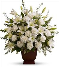 Telefloras Sincere Serenity Funeral Flowers, Sympathy Flowers, Funeral Flower Arrangements from San Francisco Funeral Flowers.com Search for chinese funeral, sympathy funeral flower arrangements from our SanFranciscoFuneralFlowers.com website. Our funeral and sympathy arrangements include crosses, casket covers, hearts, wreaths on wood easels, coronas fúnebres, arreglos fúnebres, cruces para velorio, coronas para difunto, arreglos fúnebres, Florerias, Floreria, arreglos florales, corona funebre, coronas