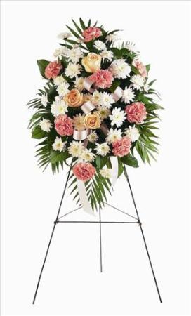 Pink & White Spray Funeral Flowers, Sympathy Flowers, Funeral Flower Arrangements from San Francisco Funeral Flowers.com Search for chinese funeral, sympathy funeral flower arrangements from our SanFranciscoFuneralFlowers.com website. Our funeral and sympathy arrangements include crosses, casket covers, hearts, wreaths on wood easels, coronas fúnebres, arreglos fúnebres, cruces para velorio, coronas para difunto, arreglos fúnebres, Florerias, Floreria, arreglos florales, corona funebre, coronas