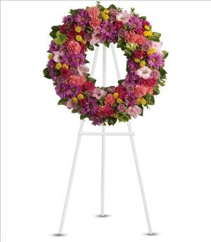 Ringed by Love Funeral Flowers, Sympathy Flowers, Funeral Flower Arrangements from San Francisco Funeral Flowers.com Search for chinese funeral, sympathy funeral flower arrangements from our SanFranciscoFuneralFlowers.com website. Our funeral and sympathy arrangements include crosses, casket covers, hearts, wreaths on wood easels, coronas fúnebres, arreglos fúnebres, cruces para velorio, coronas para difunto, arreglos fúnebres, Florerias, Floreria, arreglos florales, corona funebre, coronas