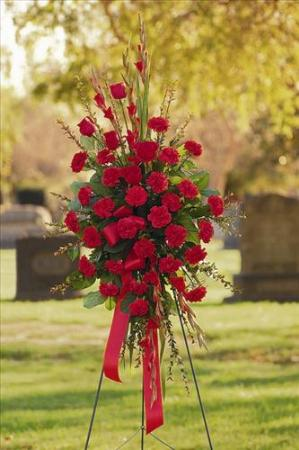 All-Red Standing Spray Funeral Flowers, Sympathy Flowers, Funeral Flower Arrangements from San Francisco Funeral Flowers.com Search for chinese funeral, sympathy funeral flower arrangements from our SanFranciscoFuneralFlowers.com website. Our funeral and sympathy arrangements include crosses, casket covers, hearts, wreaths on wood easels, coronas fúnebres, arreglos fúnebres, cruces para velorio, coronas para difunto, arreglos fúnebres, Florerias, Floreria, arreglos florales, corona funebre, coronas