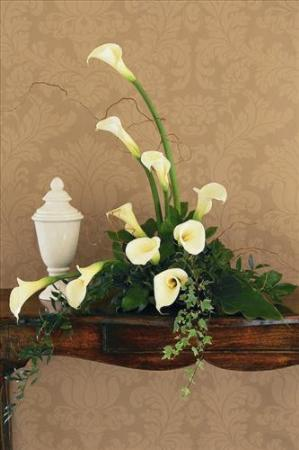 White Calla Design Funeral Flowers, Sympathy Flowers, Funeral Flower Arrangements from San Francisco Funeral Flowers.com Search for chinese funeral, sympathy funeral flower arrangements from our SanFranciscoFuneralFlowers.com website. Our funeral and sympathy arrangements include crosses, casket covers, hearts, wreaths on wood easels, coronas fúnebres, arreglos fúnebres, cruces para velorio, coronas para difunto, arreglos fúnebres, Florerias, Floreria, arreglos florales, corona funebre, coronas