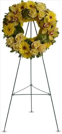 Circle of Sunshine Funeral Flowers, Sympathy Flowers, Funeral Flower Arrangements from San Francisco Funeral Flowers.com Search for chinese funeral, sympathy funeral flower arrangements from our SanFranciscoFuneralFlowers.com website. Our funeral and sympathy arrangements include crosses, casket covers, hearts, wreaths on wood easels, coronas fúnebres, arreglos fúnebres, cruces para velorio, coronas para difunto, arreglos fúnebres, Florerias, Floreria, arreglos florales, corona funebre, coronas