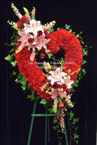Sweet Love heart Funeral Flowers, Sympathy Flowers, Funeral Flower Arrangements from San Francisco Funeral Flowers.com Search for chinese funeral, sympathy funeral flower arrangements from our SanFranciscoFuneralFlowers.com website. Our funeral and sympathy arrangements include crosses, casket covers, hearts, wreaths on wood easels, coronas fúnebres, arreglos fúnebres, cruces para velorio, coronas para difunto, arreglos fúnebres, Florerias, Floreria, arreglos florales, corona funebre, coronas