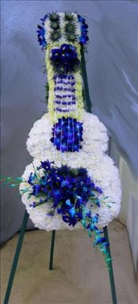 Custom Floral Guitar Funeral Flowers, Sympathy Flowers, Funeral Flower Arrangements from San Francisco Funeral Flowers.com Search for chinese funeral, sympathy funeral flower arrangements from our SanFranciscoFuneralFlowers.com website. Our funeral and sympathy arrangements include crosses, casket covers, hearts, wreaths on wood easels, coronas fúnebres, arreglos fúnebres, cruces para velorio, coronas para difunto, arreglos fúnebres, Florerias, Floreria, arreglos florales, corona funebre, coronas