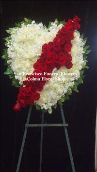 Broken Melody Heart Funeral Flowers, Sympathy Flowers, Funeral Flower Arrangements from San Francisco Funeral Flowers.com Search for chinese funeral, sympathy funeral flower arrangements from our SanFranciscoFuneralFlowers.com website. Our funeral and sympathy arrangements include crosses, casket covers, hearts, wreaths on wood easels, coronas fúnebres, arreglos fúnebres, cruces para velorio, coronas para difunto, arreglos fúnebres, Florerias, Floreria, arreglos florales, corona funebre, coronas
