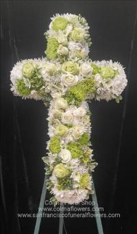 Peaceful Meadow Cross Funeral Flowers, Sympathy Flowers, Funeral Flower Arrangements from San Francisco Funeral Flowers.com Search for chinese funeral, sympathy funeral flower arrangements from our SanFranciscoFuneralFlowers.com website. Our funeral and sympathy arrangements include crosses, casket covers, hearts, wreaths on wood easels, coronas fúnebres, arreglos fúnebres, cruces para velorio, coronas para difunto, arreglos fúnebres, Florerias, Floreria, arreglos florales, corona funebre, coronas