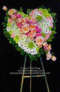 Sweet memories solid heart Funeral Flowers, Sympathy Flowers, Funeral Flower Arrangements from San Francisco Funeral Flowers.com Search for chinese funeral, sympathy funeral flower arrangements from our SanFranciscoFuneralFlowers.com website. Our funeral and sympathy arrangements include crosses, casket covers, hearts, wreaths on wood easels, coronas fúnebres, arreglos fúnebres, cruces para velorio, coronas para difunto, arreglos fúnebres, Florerias, Floreria, arreglos florales, corona funebre, coronas