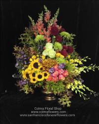 autumn sunset arrangement Funeral Flowers, Sympathy Flowers, Funeral Flower Arrangements from San Francisco Funeral Flowers.com Search for chinese funeral, sympathy funeral flower arrangements from our SanFranciscoFuneralFlowers.com website. Our funeral and sympathy arrangements include crosses, casket covers, hearts, wreaths on wood easels, coronas fúnebres, arreglos fúnebres, cruces para velorio, coronas para difunto, arreglos fúnebres, Florerias, Floreria, arreglos florales, corona funebre, coronas