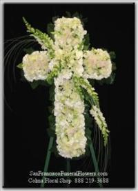 Cross White Flowers Funeral Flowers, Sympathy Flowers, Funeral Flower Arrangements from San Francisco Funeral Flowers.com Search for chinese funeral, sympathy funeral flower arrangements from our SanFranciscoFuneralFlowers.com website. Our funeral and sympathy arrangements include crosses, casket covers, hearts, wreaths on wood easels, coronas fúnebres, arreglos fúnebres, cruces para velorio, coronas para difunto, arreglos fúnebres, Florerias, Floreria, arreglos florales, corona funebre, coronas