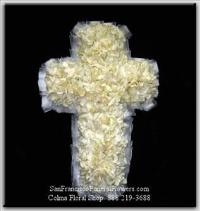 Cross White Gardenias Funeral Flowers, Sympathy Flowers, Funeral Flower Arrangements from San Francisco Funeral Flowers.com Search for chinese funeral, sympathy funeral flower arrangements from our SanFranciscoFuneralFlowers.com website. Our funeral and sympathy arrangements include crosses, casket covers, hearts, wreaths on wood easels, coronas fúnebres, arreglos fúnebres, cruces para velorio, coronas para difunto, arreglos fúnebres, Florerias, Floreria, arreglos florales, corona funebre, coronas