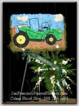 Dune Buggy Floral Spray, Funeral Flowers, Sympathy Flowers, Funeral Flower Arrangements from San Francisco Funeral Flowers.com Search for sympathy and funeral flower arrangement ideas from our SanFranciscoFuneralFlowers.com website. Our funeral and sympathy arrangements include crosses, casket covers, hearts, wreaths on wood easels. Open 365 days and provide delivery everyday including Sunday delivery to funeral homes from San Francisco CA to San Mateo CA. San Francisco Flowers