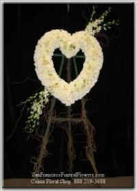 Most Cherished Love Heart Funeral Flowers, Sympathy Flowers, Funeral Flower Arrangements from San Francisco Funeral Flowers.com Search for chinese funeral, sympathy funeral flower arrangements from our SanFranciscoFuneralFlowers.com website. Our funeral and sympathy arrangements include crosses, casket covers, hearts, wreaths on wood easels, coronas fúnebres, arreglos fúnebres, cruces para velorio, coronas para difunto, arreglos fúnebres, Florerias, Floreria, arreglos florales, corona funebre, coronas