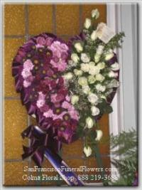 My Eternal Love Heart Funeral Flowers, Sympathy Flowers, Funeral Flower Arrangements from San Francisco Funeral Flowers.com Search for chinese funeral, sympathy funeral flower arrangements from our SanFranciscoFuneralFlowers.com website. Our funeral and sympathy arrangements include crosses, casket covers, hearts, wreaths on wood easels, coronas fúnebres, arreglos fúnebres, cruces para velorio, coronas para difunto, arreglos fúnebres, Florerias, Floreria, arreglos florales, corona funebre, coronas