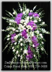 Graceful Garden Spray Funeral Flowers, Sympathy Flowers, Funeral Flower Arrangements from San Francisco Funeral Flowers.com Search for chinese funeral, sympathy funeral flower arrangements from our SanFranciscoFuneralFlowers.com website. Our funeral and sympathy arrangements include crosses, casket covers, hearts, wreaths on wood easels, coronas fúnebres, arreglos fúnebres, cruces para velorio, coronas para difunto, arreglos fúnebres, Florerias, Floreria, arreglos florales, corona funebre, coronas