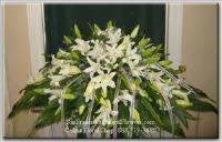 Lillies of Love Casket Spray Funeral Flowers, Sympathy Flowers, Funeral Flower Arrangements from San Francisco Funeral Flowers.com Search for chinese funeral, sympathy funeral flower arrangements from our SanFranciscoFuneralFlowers.com website. Our funeral and sympathy arrangements include crosses, casket covers, hearts, wreaths on wood easels, coronas fúnebres, arreglos fúnebres, cruces para velorio, coronas para difunto, arreglos fúnebres, Florerias, Floreria, arreglos florales, corona funebre, coronas