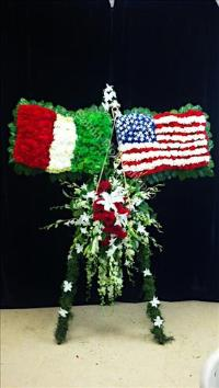 Custom Italian & American Flags Funeral Flowers, Sympathy Flowers, Funeral Flower Arrangements from San Francisco Funeral Flowers.com Search for chinese funeral, sympathy funeral flower arrangements from our SanFranciscoFuneralFlowers.com website. Our funeral and sympathy arrangements include crosses, casket covers, hearts, wreaths on wood easels, coronas fúnebres, arreglos fúnebres, cruces para velorio, coronas para difunto, arreglos fúnebres, Florerias, Floreria, arreglos florales, corona funebre, coronas