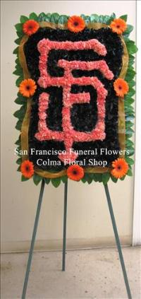 Custom SF Giants Logo Funeral Flowers, Sympathy Flowers, Funeral Flower Arrangements from San Francisco Funeral Flowers.com Search for chinese funeral, sympathy funeral flower arrangements from our SanFranciscoFuneralFlowers.com website. Our funeral and sympathy arrangements include crosses, casket covers, hearts, wreaths on wood easels, coronas fúnebres, arreglos fúnebres, cruces para velorio, coronas para difunto, arreglos fúnebres, Florerias, Floreria, arreglos florales, corona funebre, coronas