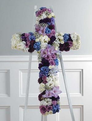 Celestial Cross (CF042-21) Funeral Flowers, Sympathy Flowers, Funeral Flower Arrangements from San Francisco Funeral Flowers.com Search for chinese funeral, sympathy funeral flower arrangements from our SanFranciscoFuneralFlowers.com website. Our funeral and sympathy arrangements include crosses, casket covers, hearts, wreaths on wood easels, coronas fúnebres, arreglos fúnebres, cruces para velorio, coronas para difunto, arreglos fúnebres, Florerias, Floreria, arreglos florales, corona funebre, coronas