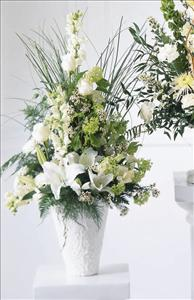 Weeping Lilies™ Arrangement Funeral Flowers, Sympathy Flowers, Funeral Flower Arrangements from San Francisco Funeral Flowers.com Search for chinese funeral, sympathy funeral flower arrangements from our SanFranciscoFuneralFlowers.com website. Our funeral and sympathy arrangements include crosses, casket covers, hearts, wreaths on wood easels, coronas fúnebres, arreglos fúnebres, cruces para velorio, coronas para difunto, arreglos fúnebres, Florerias, Floreria, arreglos florales, corona funebre, coronas