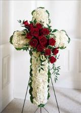 Floral Cross Funeral Flowers, Sympathy Flowers, Funeral Flower Arrangements from San Francisco Funeral Flowers.com Search for sympathy and funeral flower arrangement ideas from our SanFranciscoFuneralFlowers.com website. Our funeral and sympathy arrangements include crosses, casket covers, hearts, wreaths on wood easels. Open 365 days and provide delivery everyday including Sunday delivery to funeral homes from San Francisco CA to San Mateo CA. San Francisco Flowers