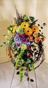 Rural Beauty Wreath Funeral Flowers, Sympathy Flowers, Funeral Flower Arrangements from San Francisco Funeral Flowers.com Search for chinese funeral, sympathy funeral flower arrangements from our SanFranciscoFuneralFlowers.com website. Our funeral and sympathy arrangements include crosses, casket covers, hearts, wreaths on wood easels, coronas fúnebres, arreglos fúnebres, cruces para velorio, coronas para difunto, arreglos fúnebres, Florerias, Floreria, arreglos florales, corona funebre, coronas